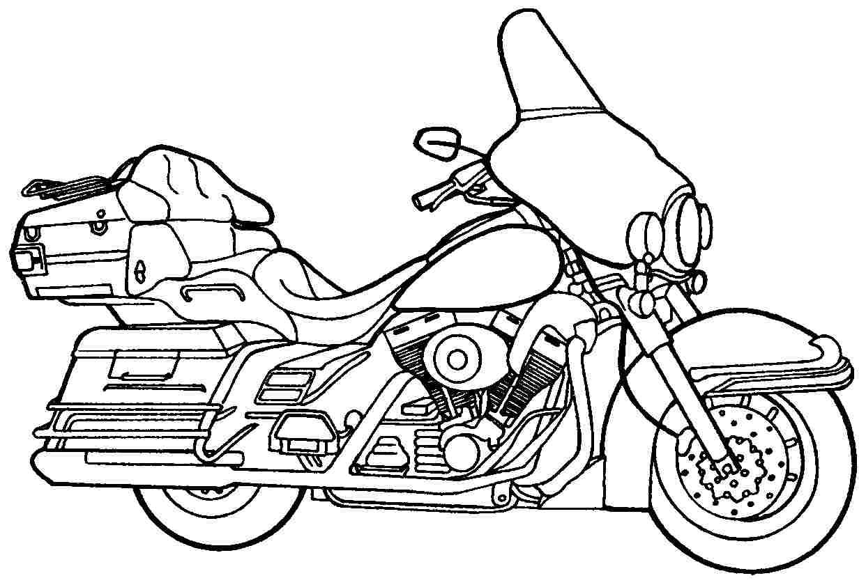 Картинки мотоциклов для раскрашивания