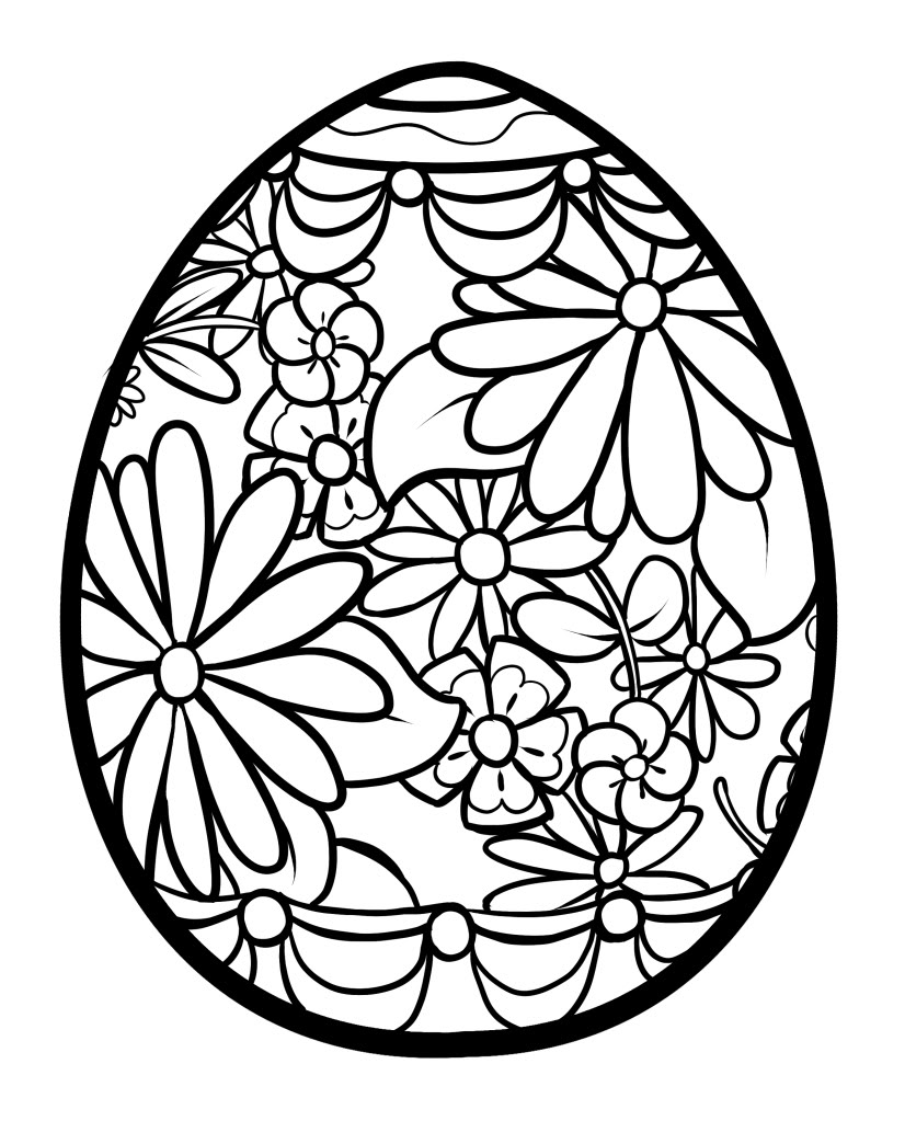 Russian Easter Eggs Coloring Pages.  Easter egg coloring pages to download and print for free