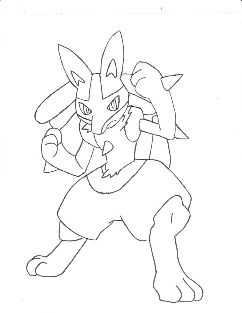 pokemon coloring pages lucario - lucario coloring pages to download and print for free
