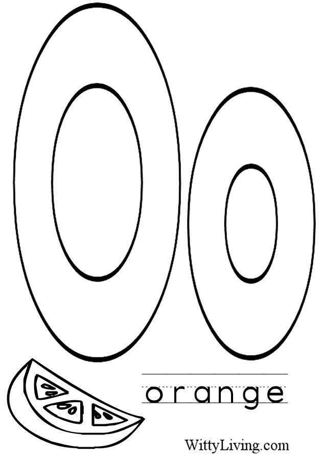 Letter o coloring pages to download