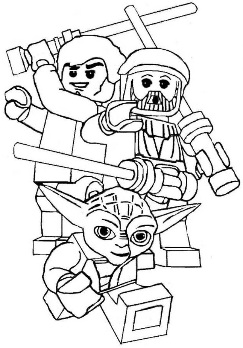 Lego star wars coloring pages to