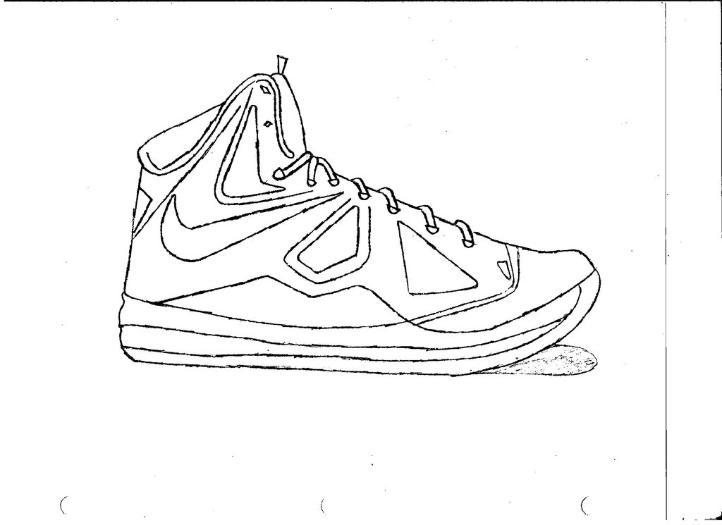 Kobe Bryant Shoes Coloring Pages | Coloring Page