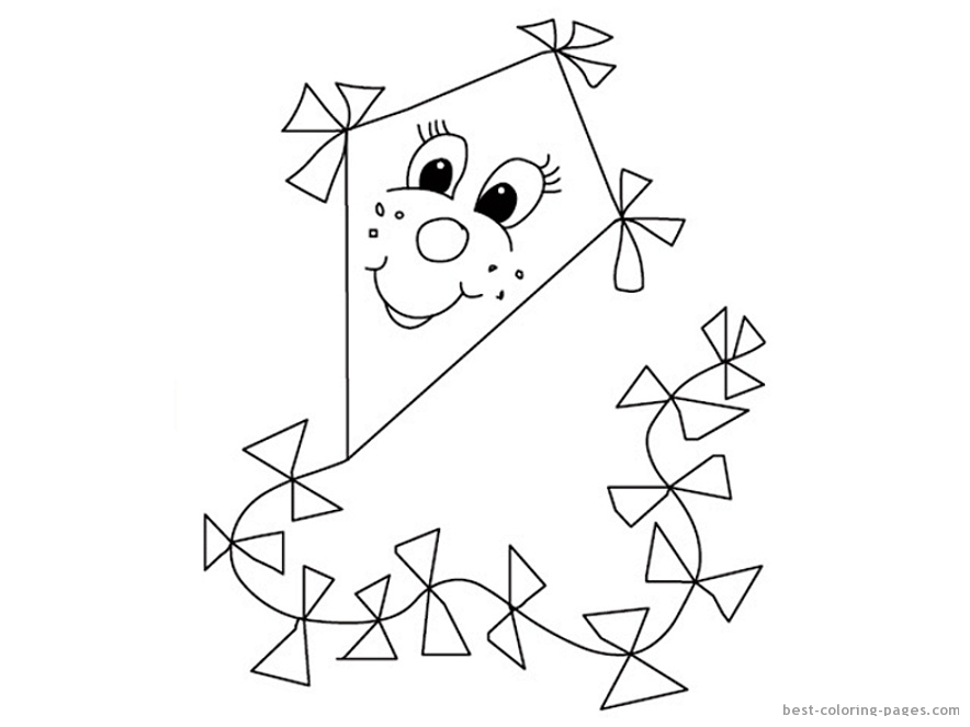 Kite Coloring Sheet Free Coloring Coloring Pages