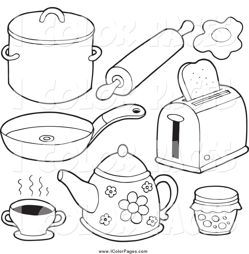 kitchen coloring pages-#30