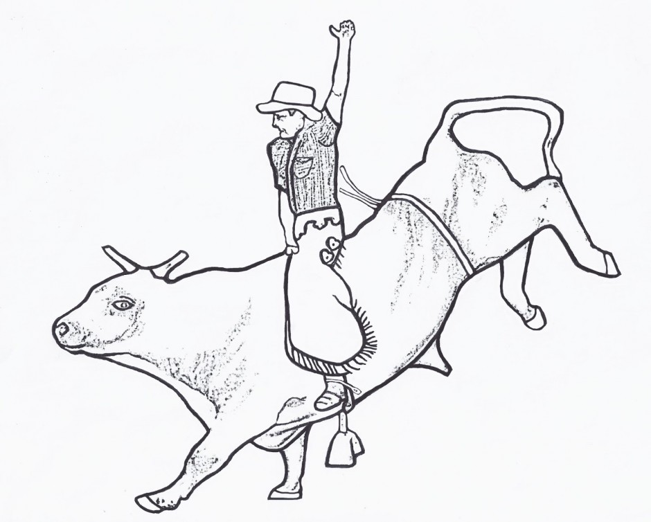Bull coloring pages to download and print for free