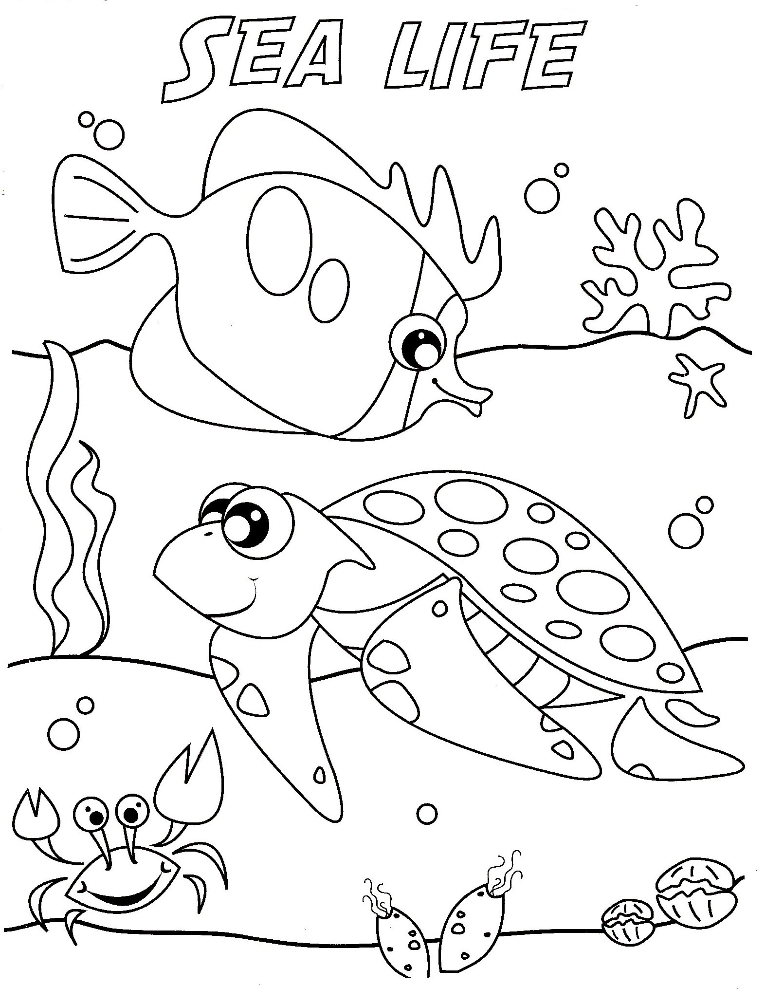 uner the sea coloring pages - photo#6
