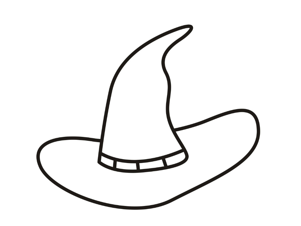 Hat coloring pages to download