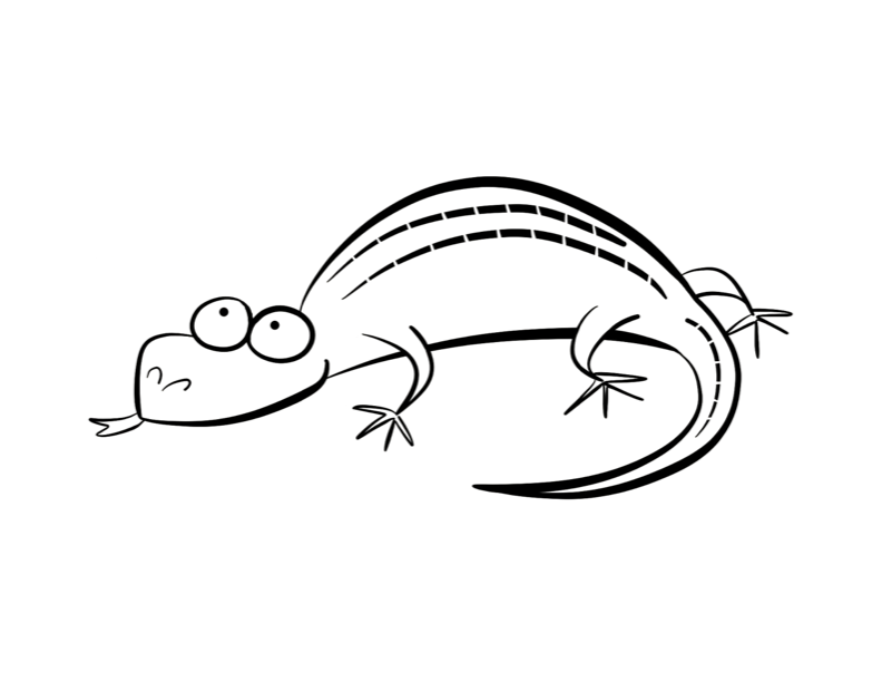 Lizard coloring pages to download and print for free for Gecko lizard coloring pages