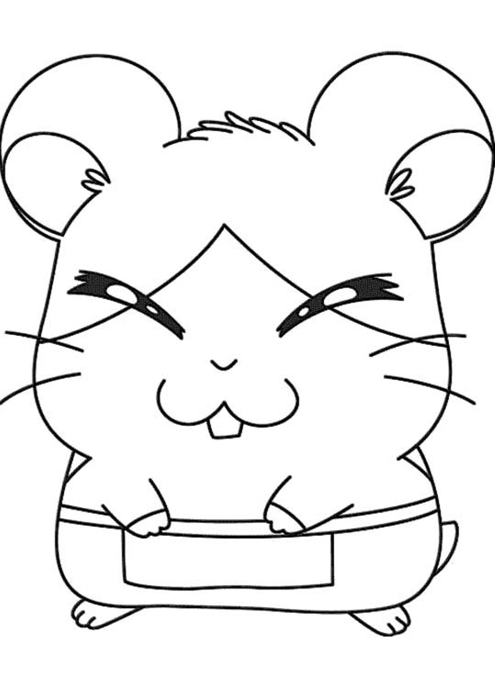 Hamtaro coloring pages to download and print for free