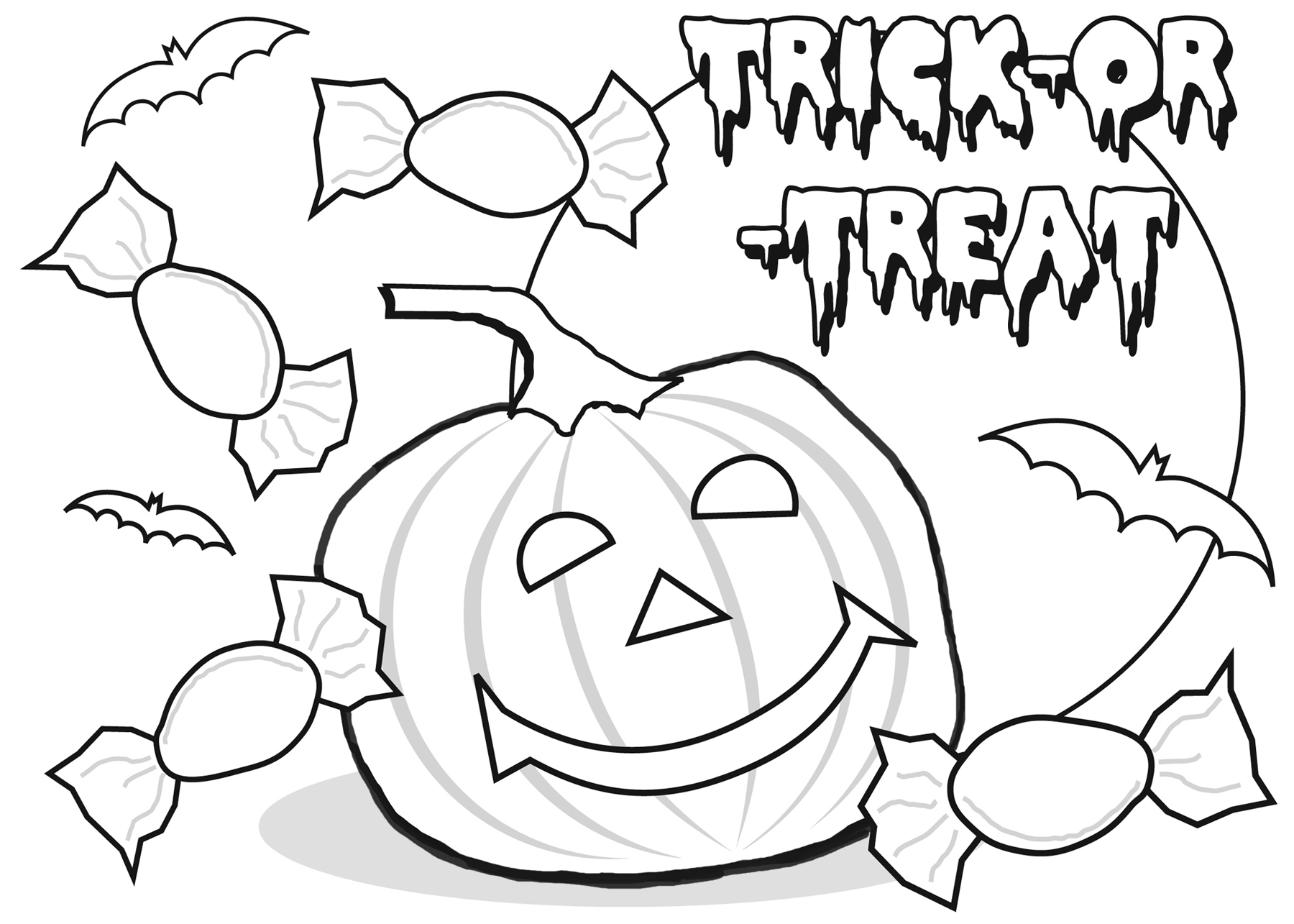 Halloween coloring pages to download and print for free for Coloring pages for halloween free printable