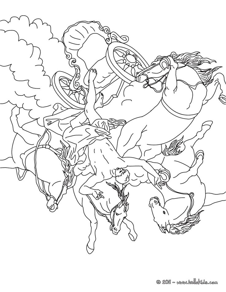 greek mythogy coloring pages - photo#1