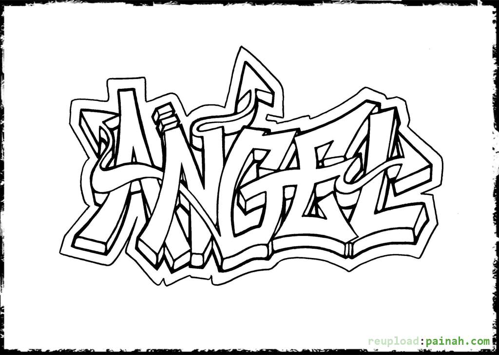 graffiti coloring pages - Coloring Book For Kids Free