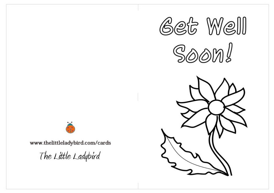 get well cards coloring pages - photo#16