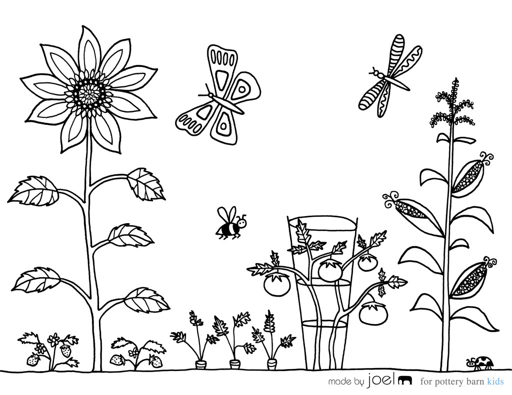 Printable coloring pages garden - Garden Coloring Pages