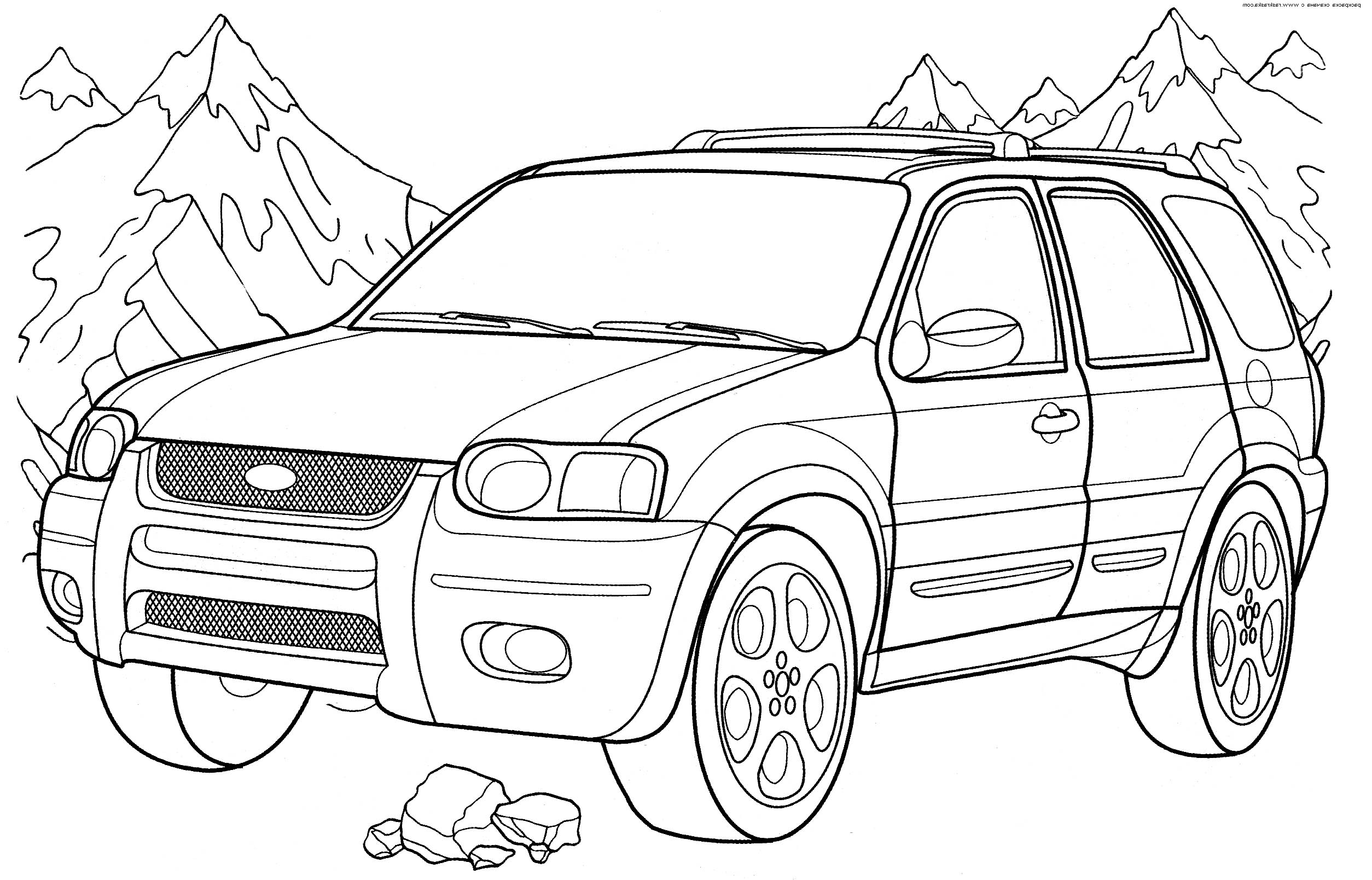 ford vehicle printable coloring pages - photo#1