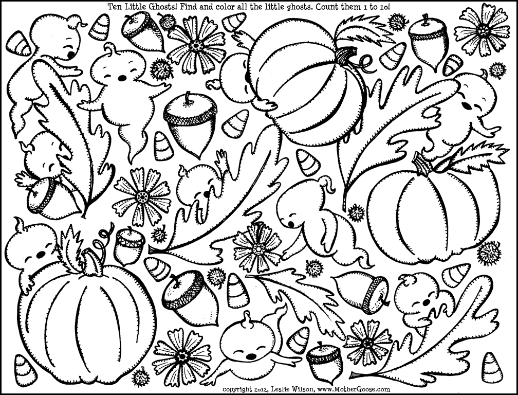 Fall coloring pages to download