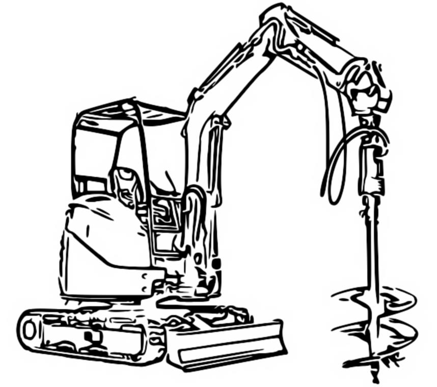 excavator coloring pages to print - photo#17
