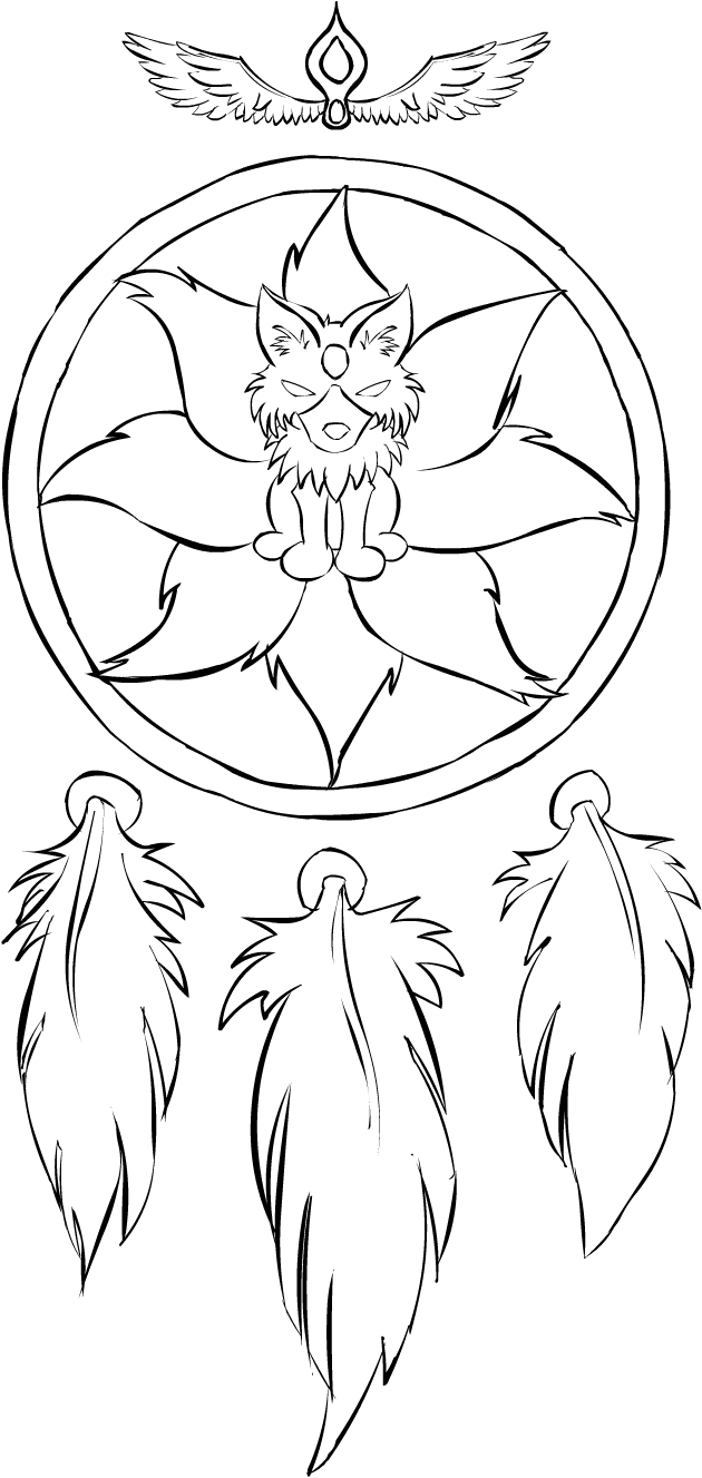 Coloring pages dream catchers - Elf Coloring Pages