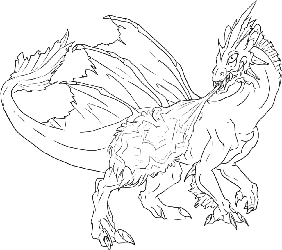 dragon gets by coloring pages - photo#30