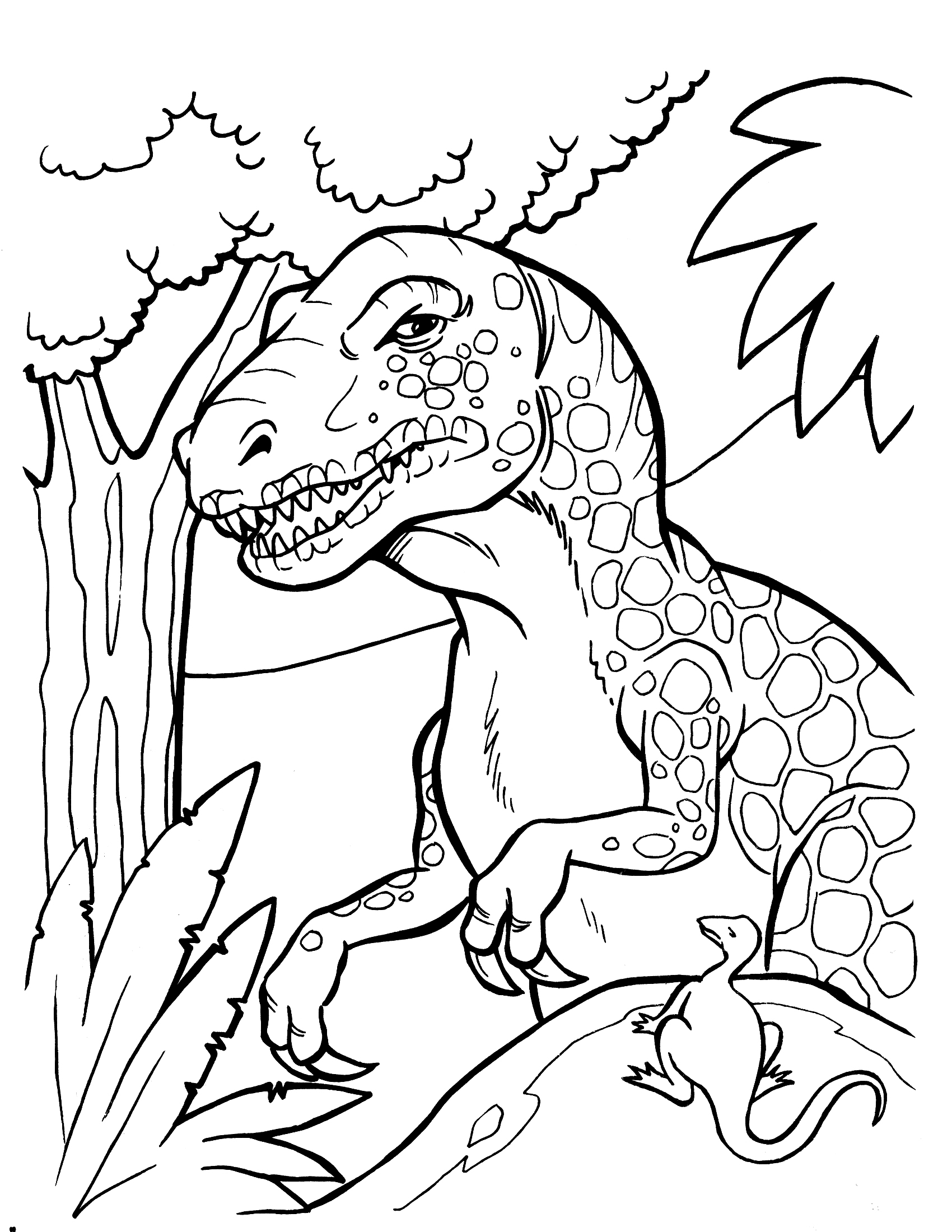 Dinosaur coloring pages to download