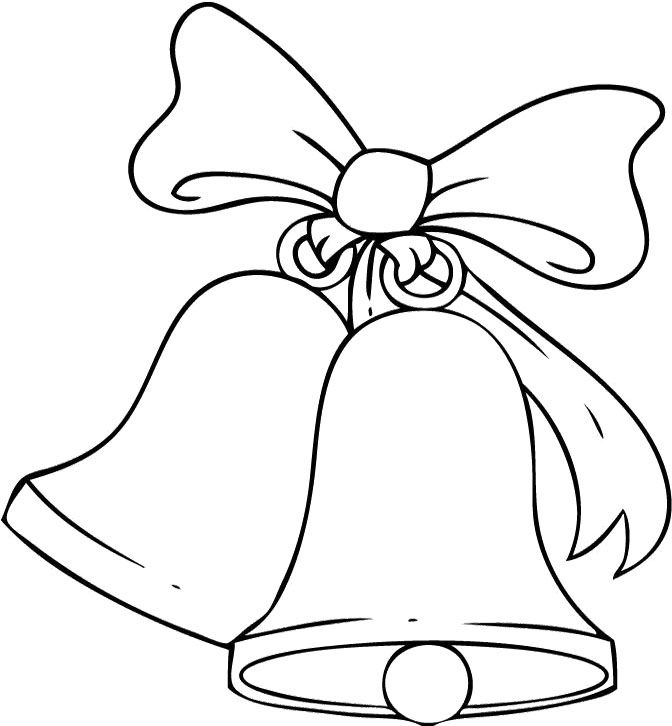 Christmas bells coloring pages to download and print for free