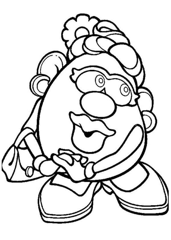 mrs potato head coloring pages - photo#4