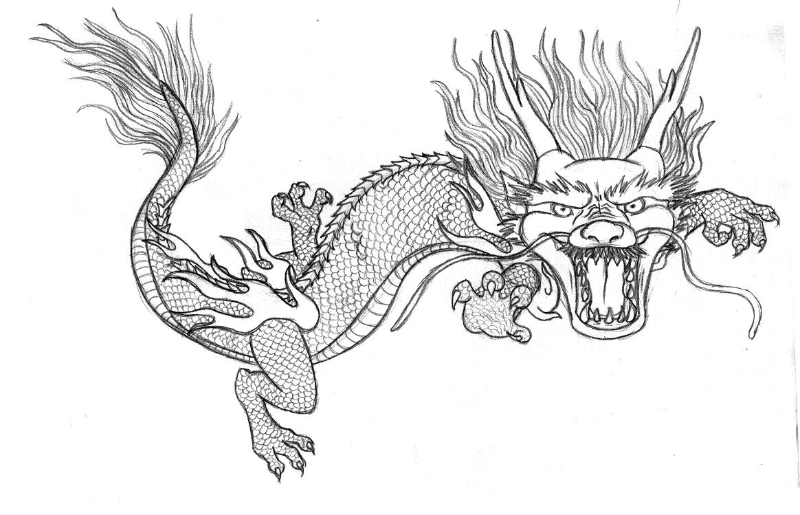 Chinese dragon coloring pages to download and print for free