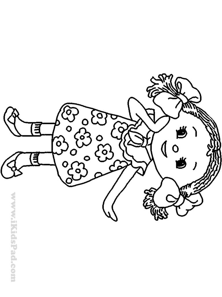 Doll coloring pages to download