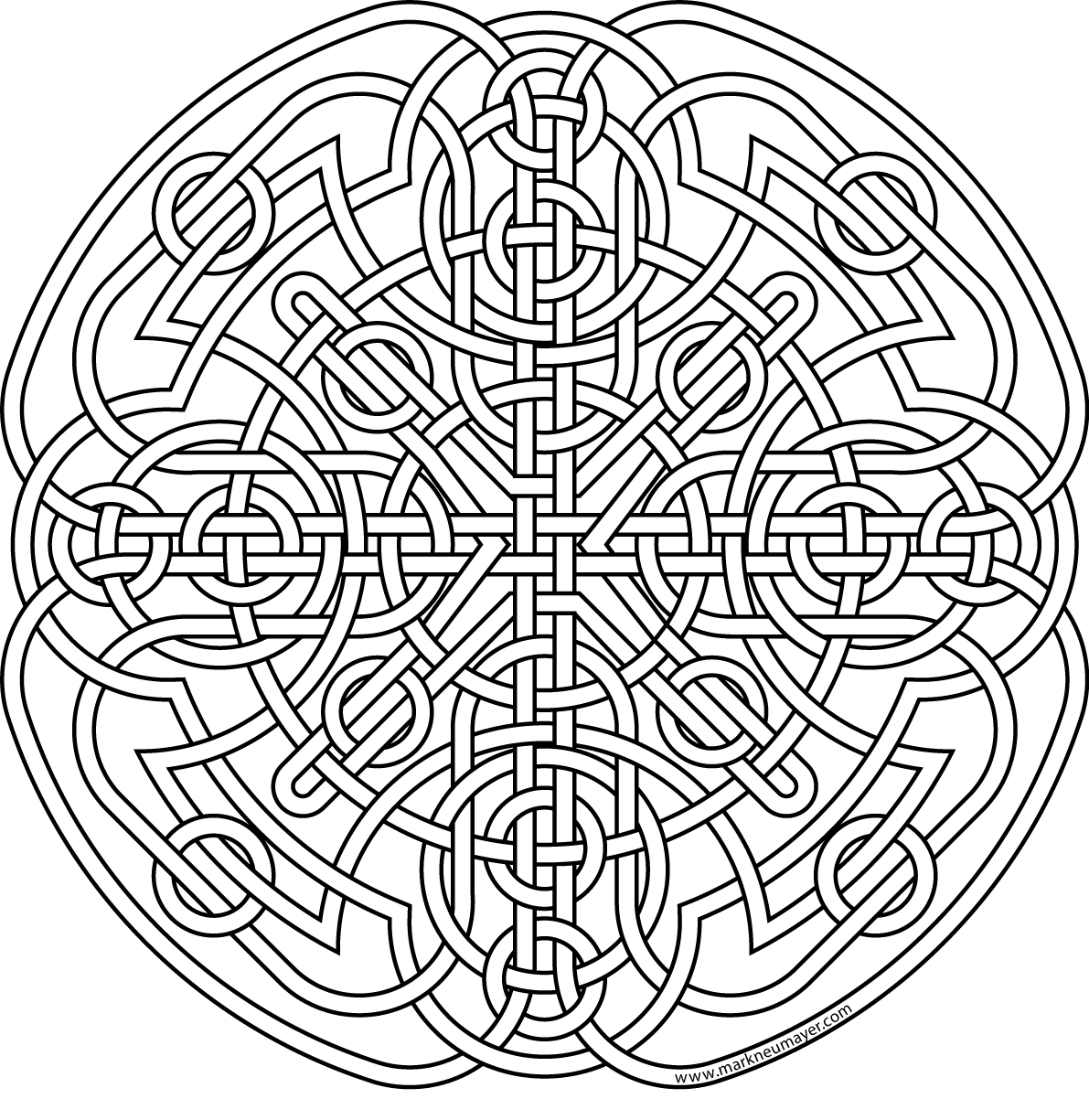celtic adult coloring pages | Celtic knot coloring pages to download and print for free