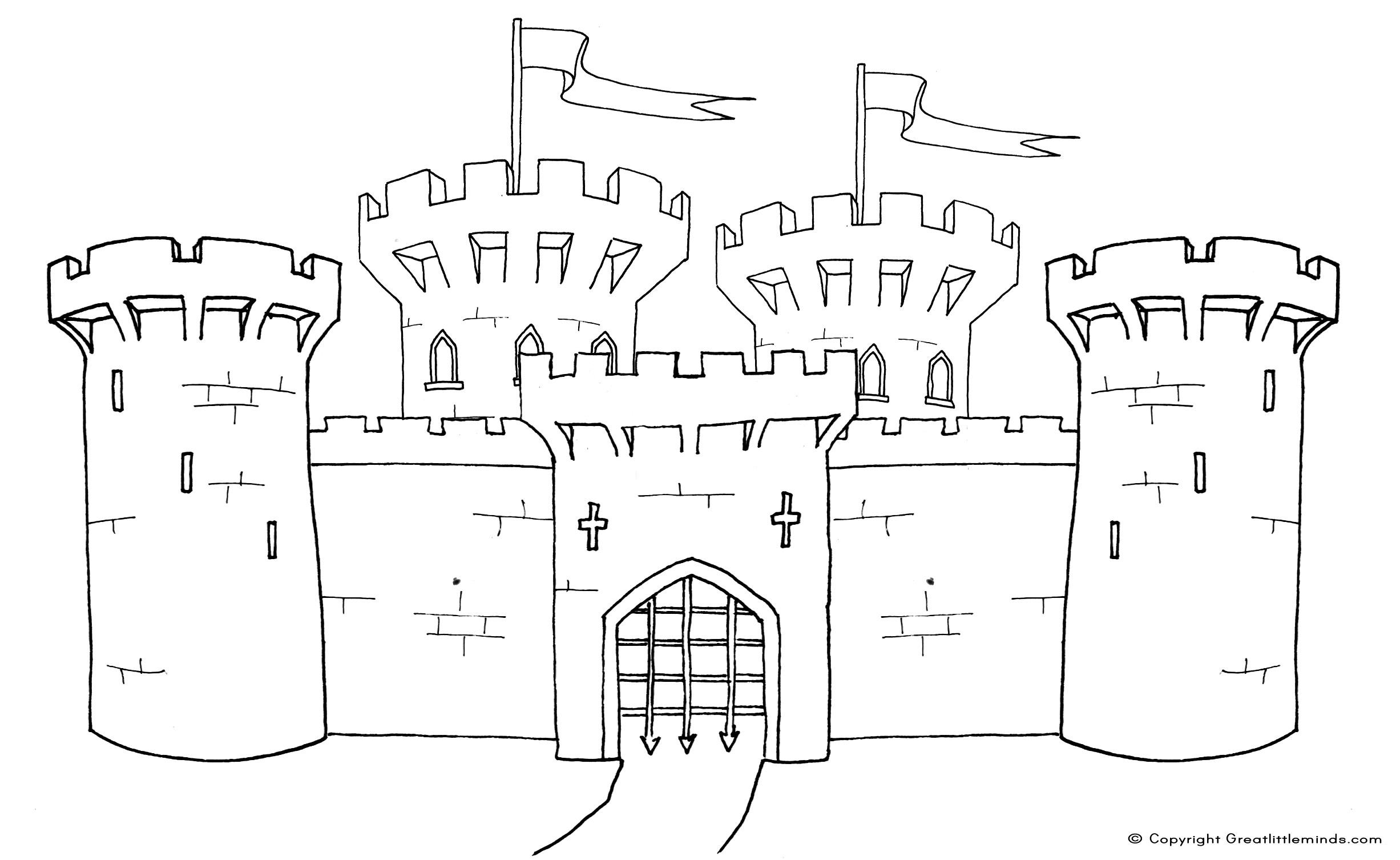 Free coloring pages castle - Castle Coloring Pages