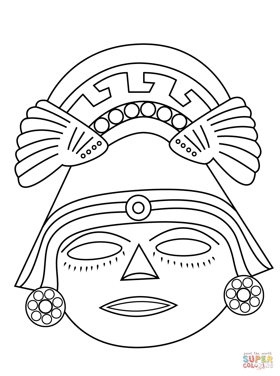 aztec coloring pages mexico - photo#11