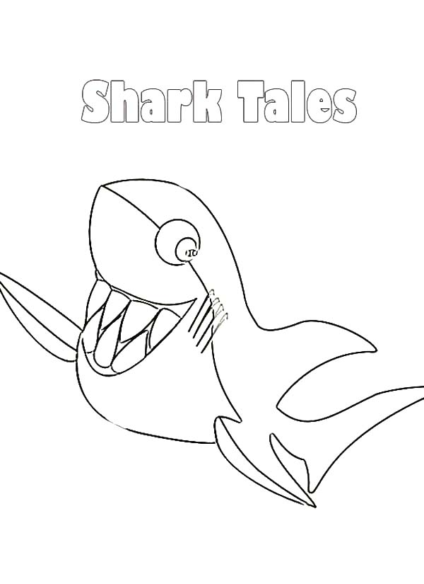 disney shark tale coloring pages - photo #24