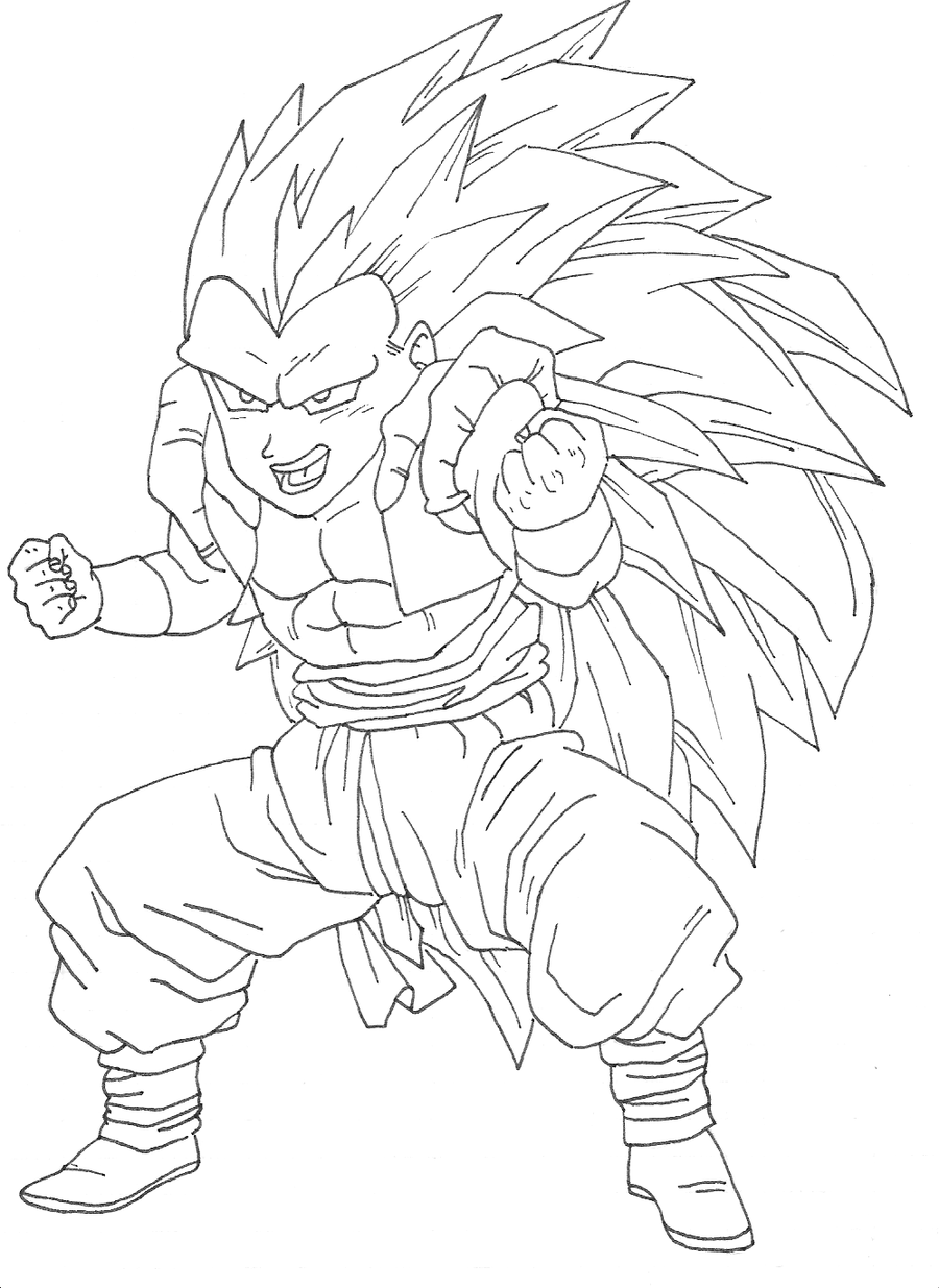 goten coloring pages - photo#33