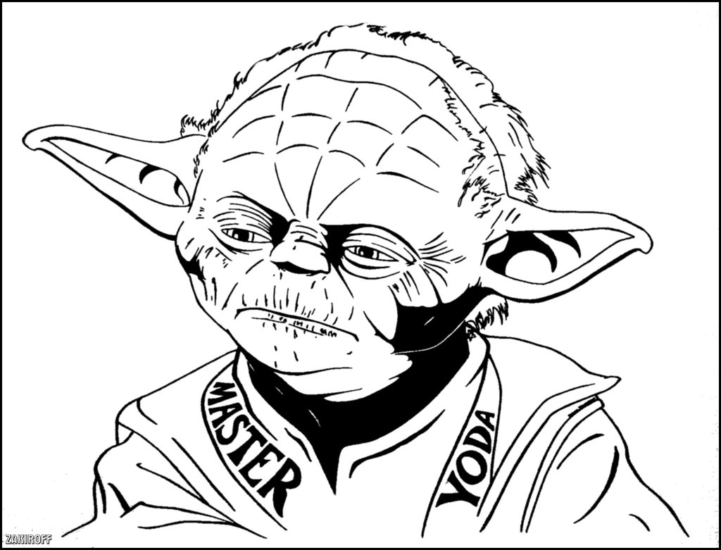 Star wars yoda coloring pages download