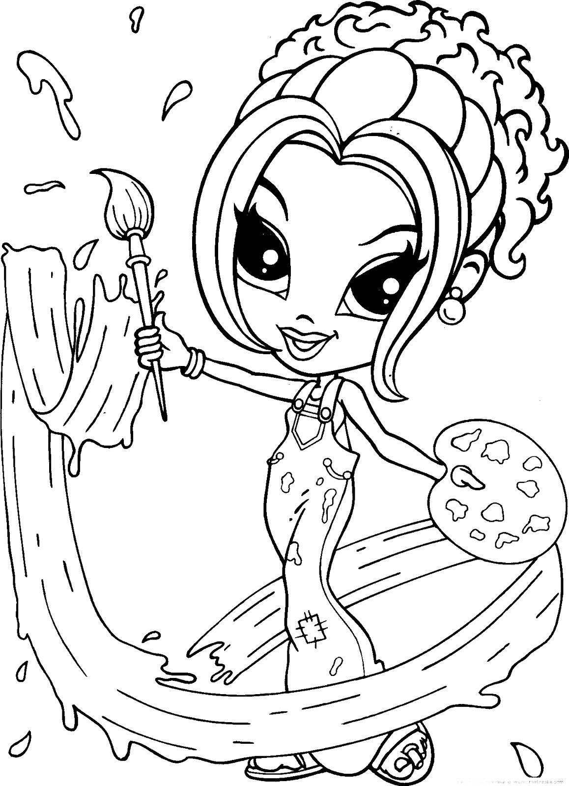 This is a picture of Persnickety animated coloring pages