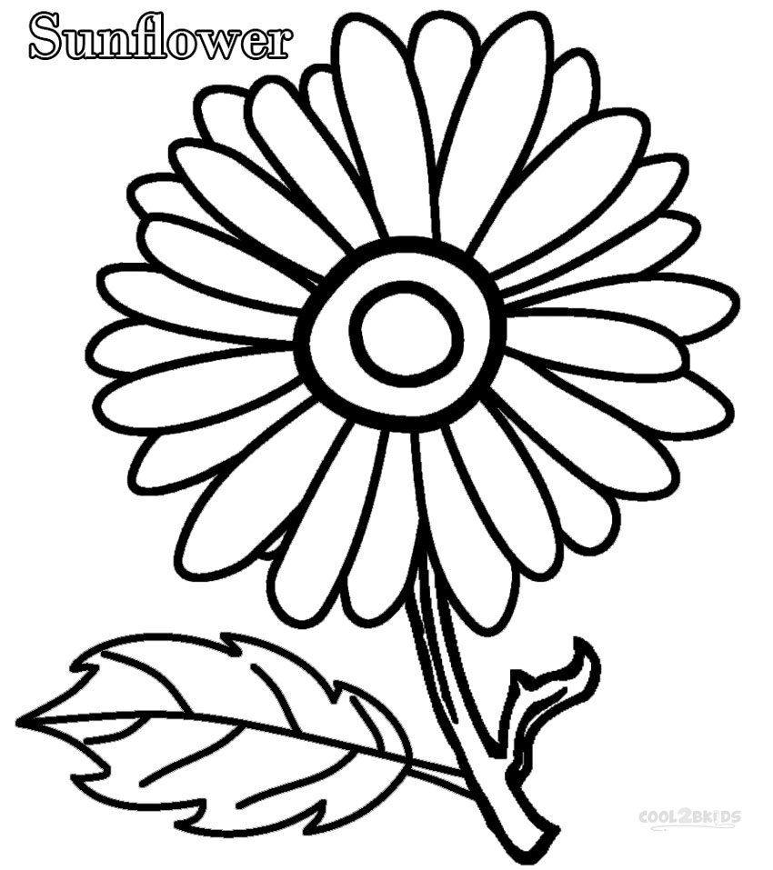 Sunflower coloring pages to download