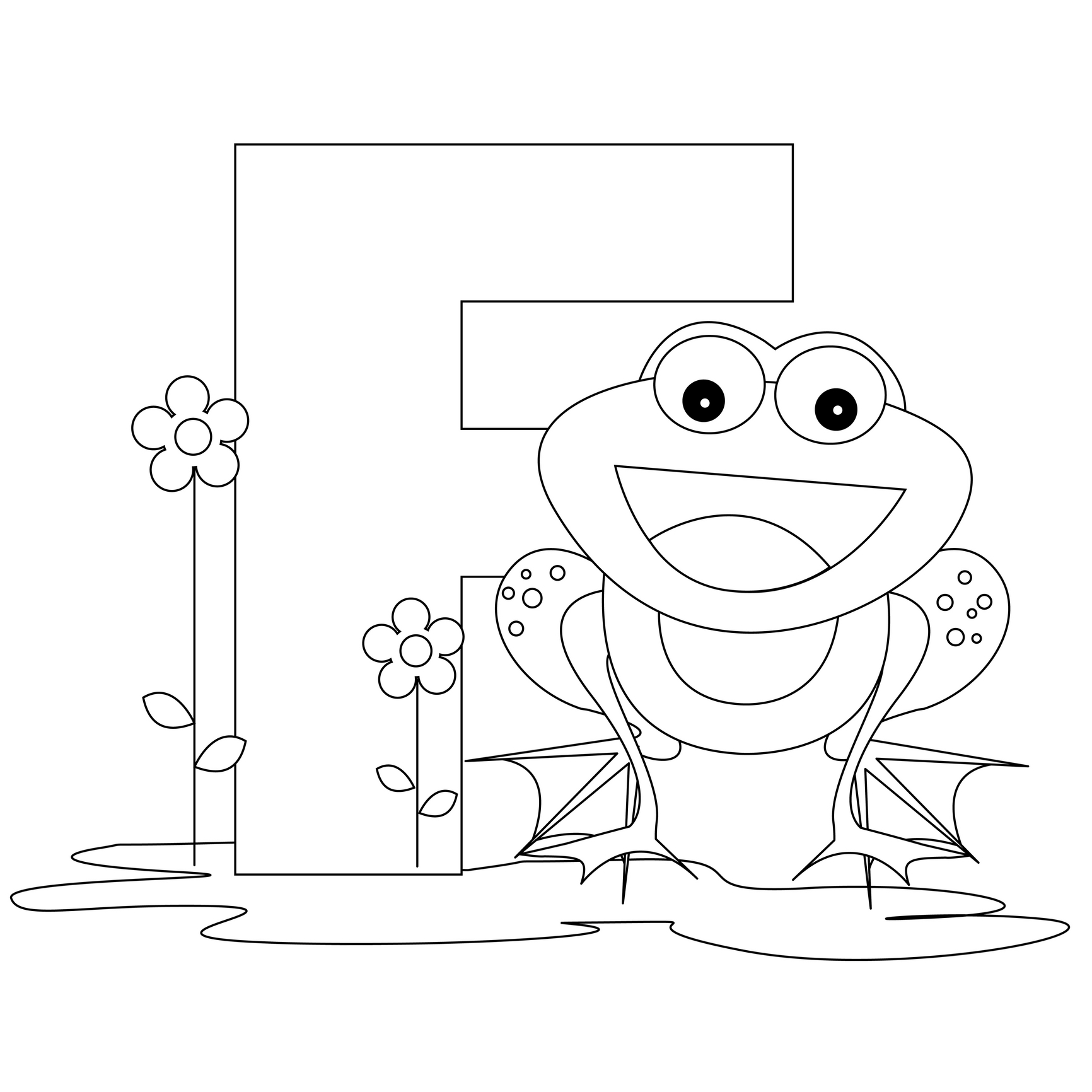 Letter f coloring pages to download and print for free for Preschool coloring pages