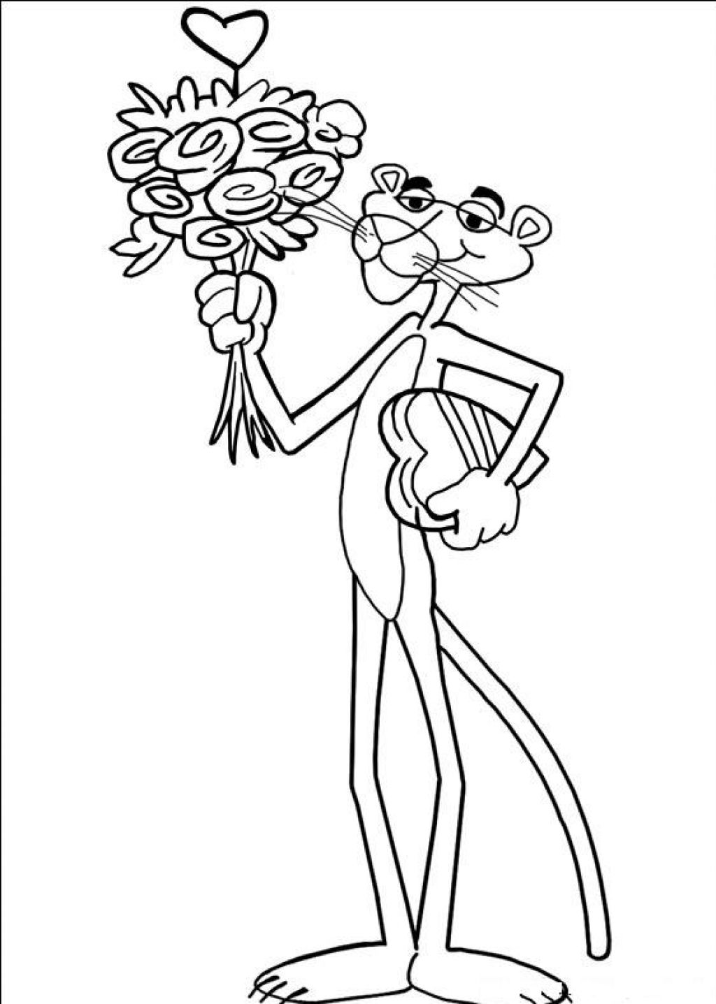 Pink coloring pages - Pink Panther Coloring Pages