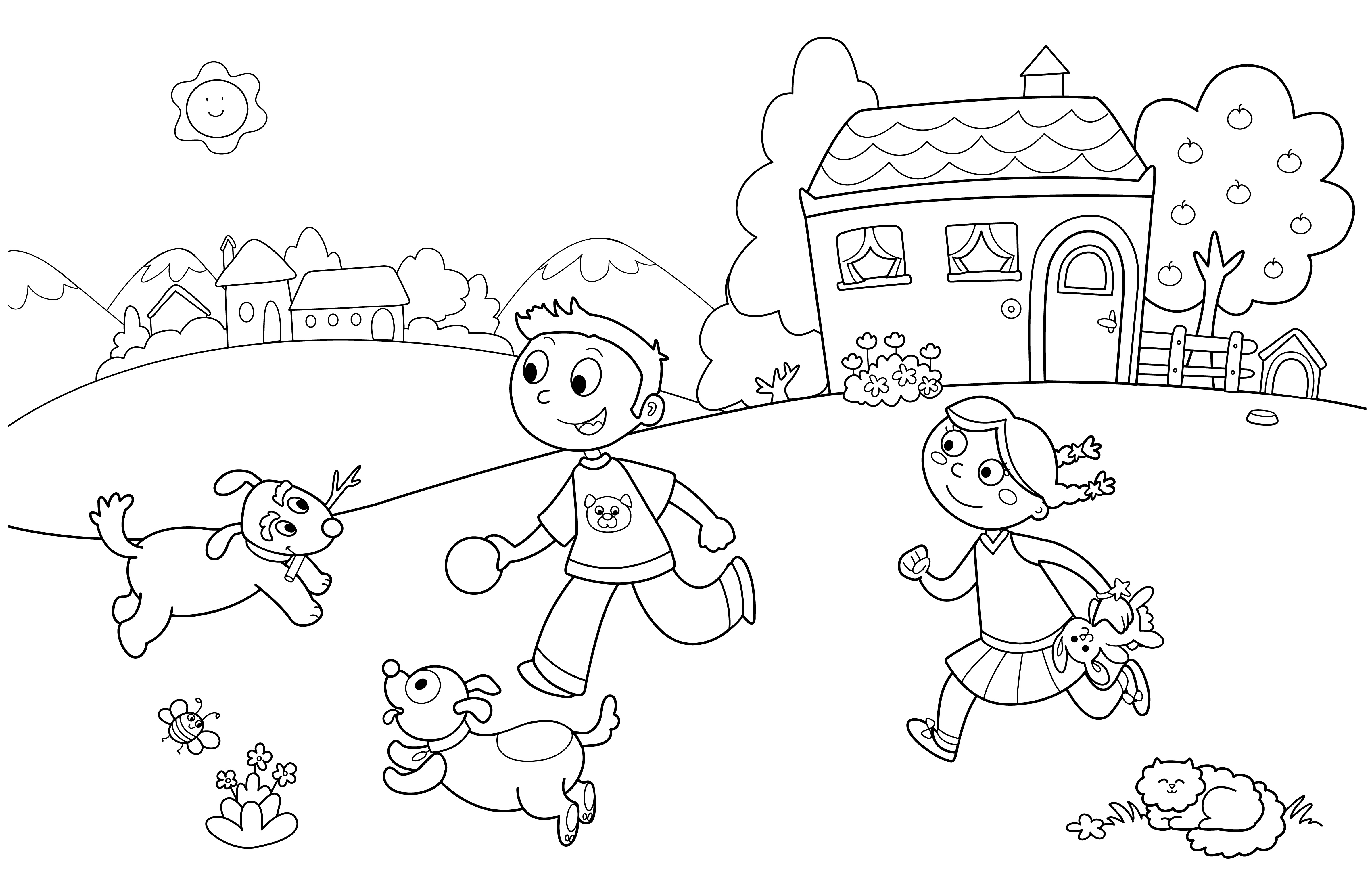 Summer fun coloring pages to and print for free