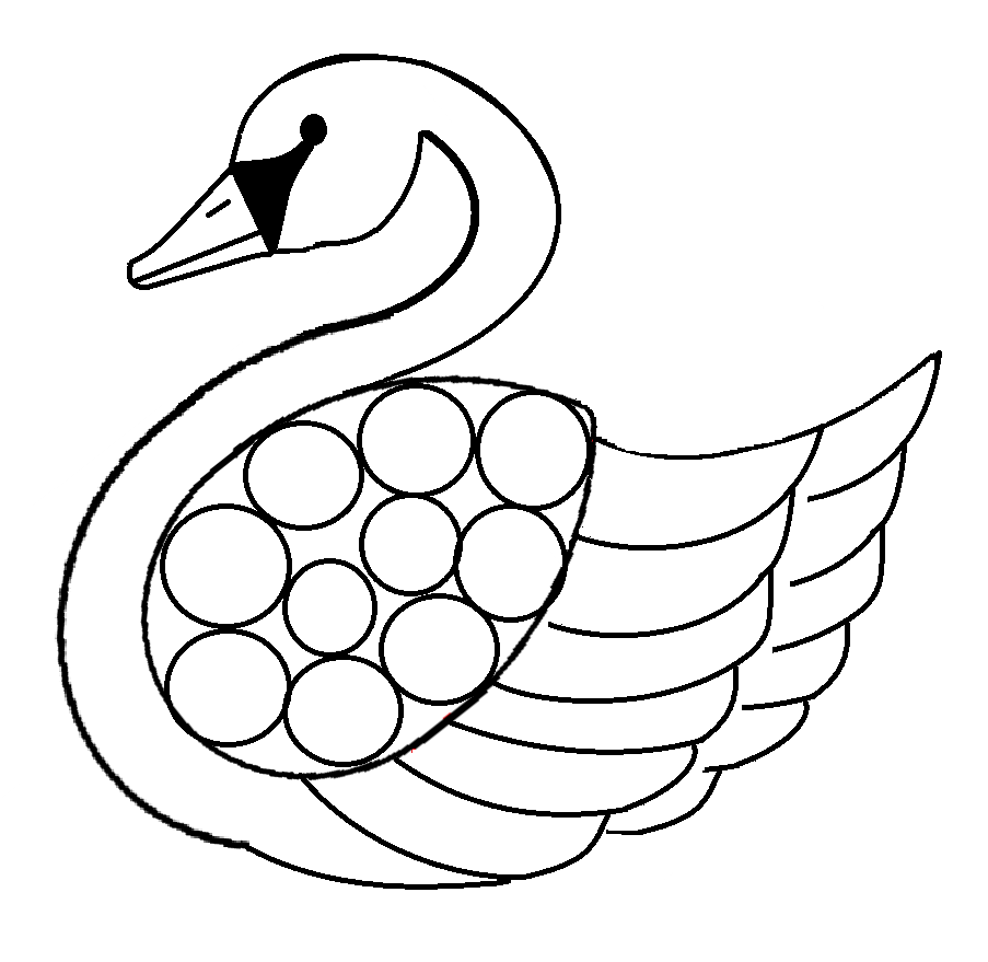 Swan coloring pages to download