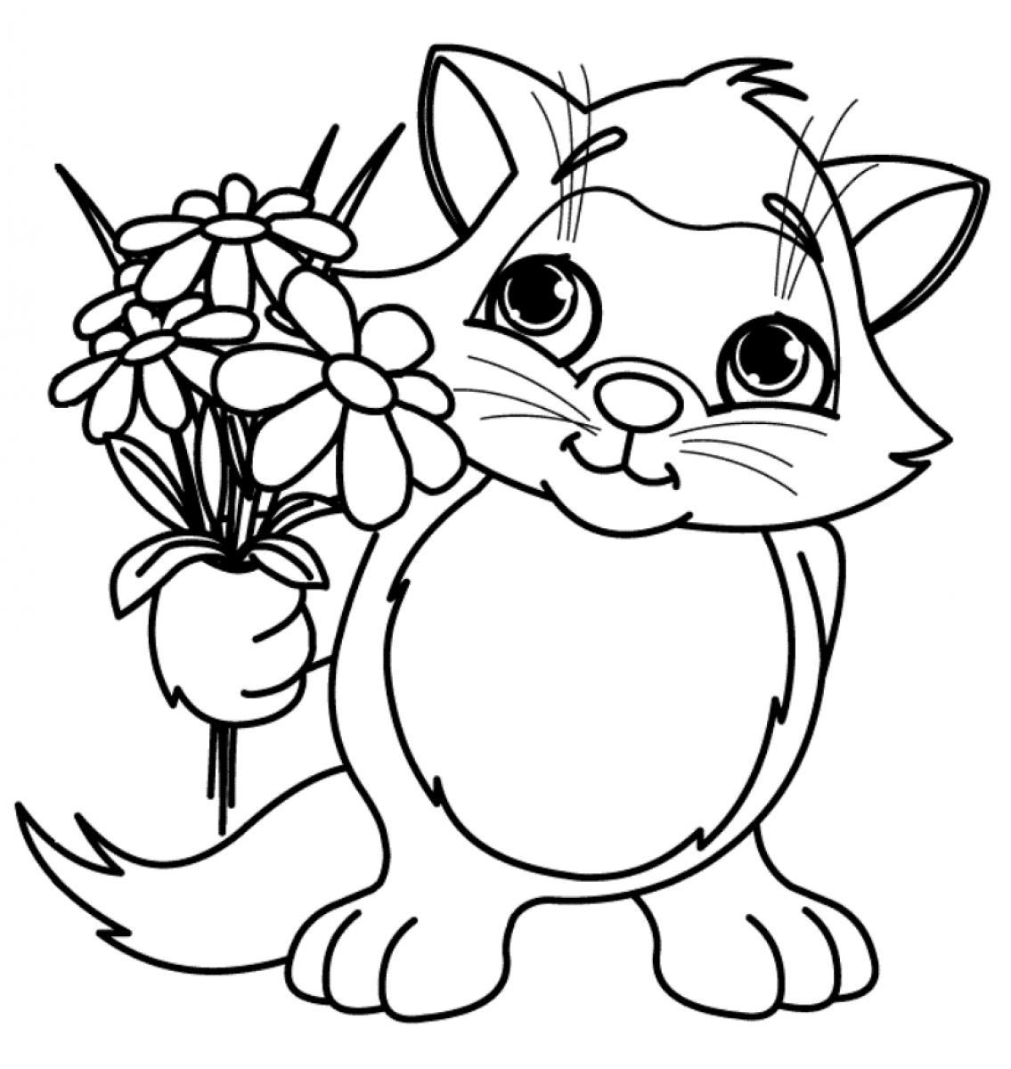 Flower Colouring Picture : Spring flower coloring pages to download and print for free