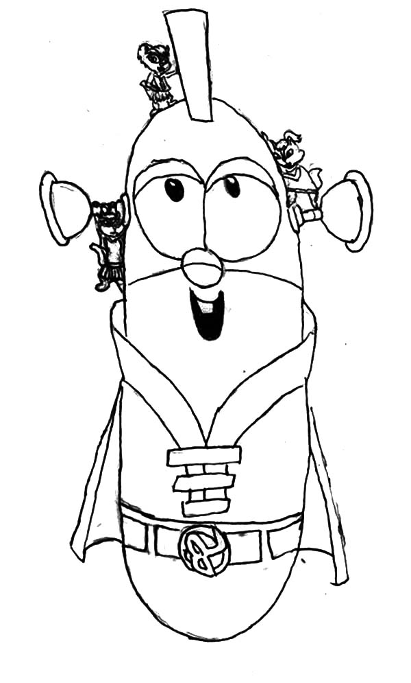 Larry boy coloring pages download