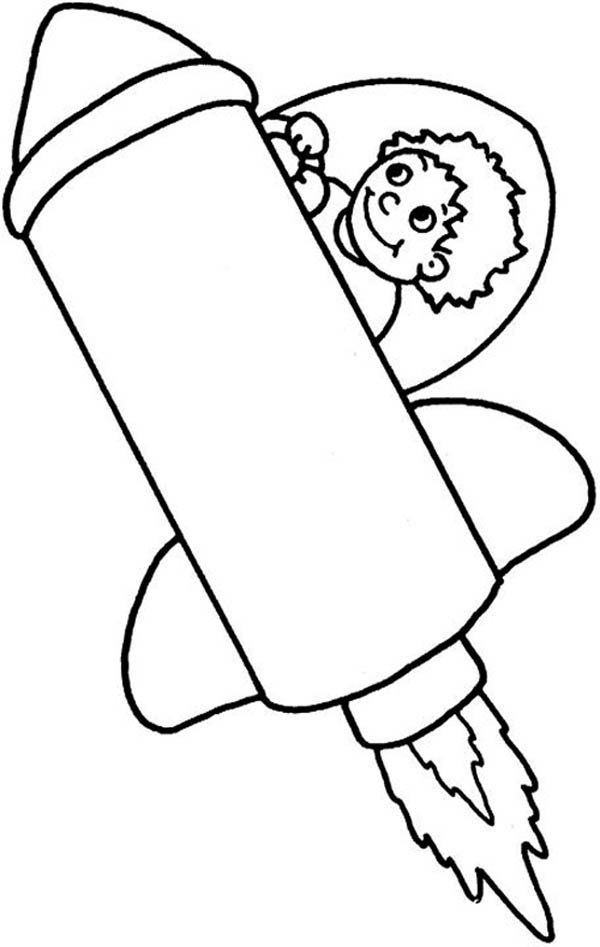 Spaceship coloring pages to download