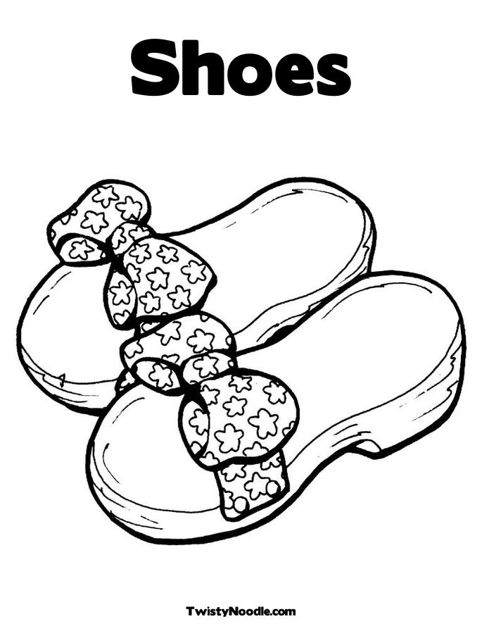 Shoe coloring pages to download and print for free for Boots coloring pages to print