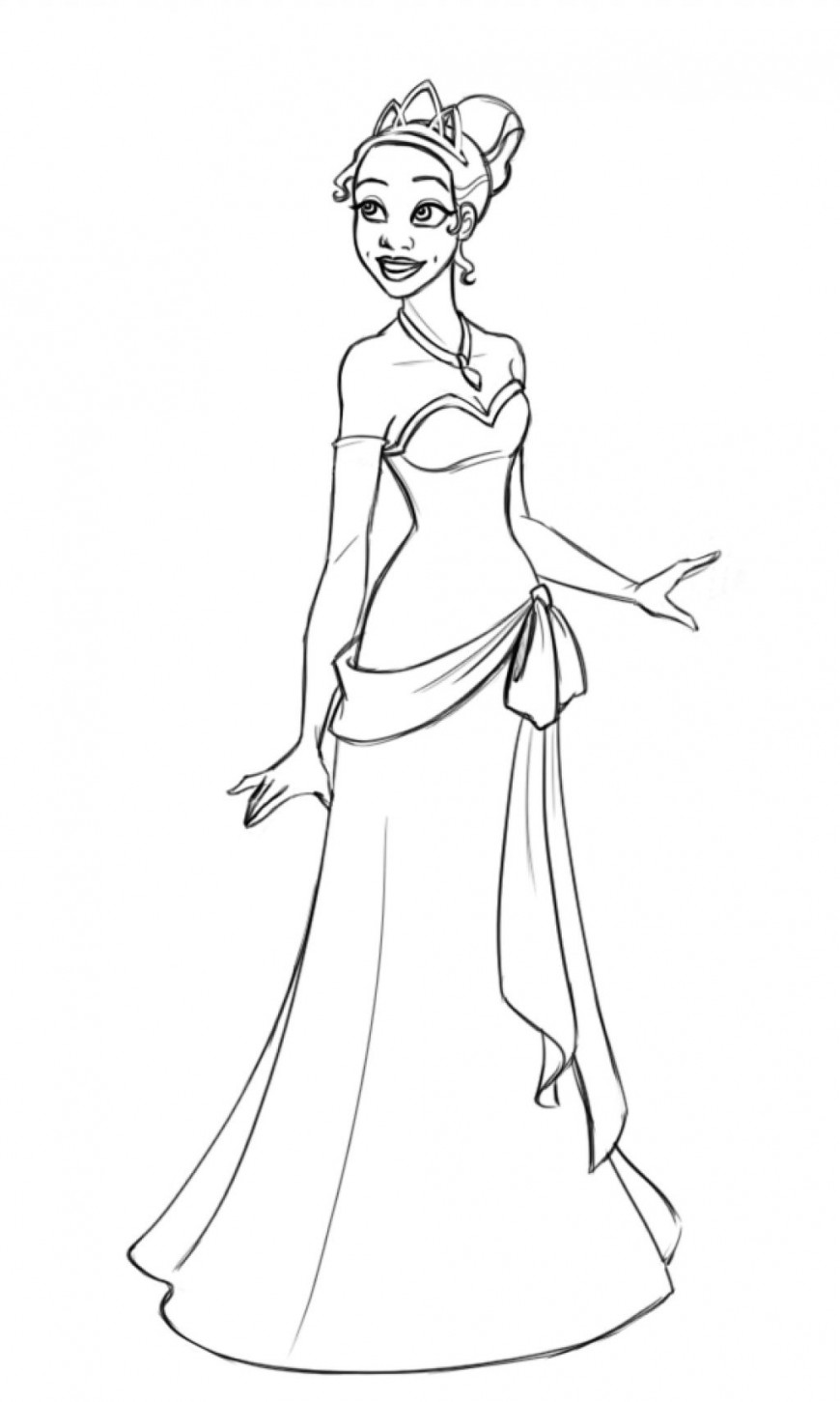Princess tiana coloring pages download and print for free