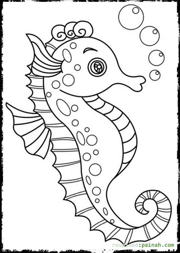 cute baby cheetah coloring pages with seahorse coloring pages