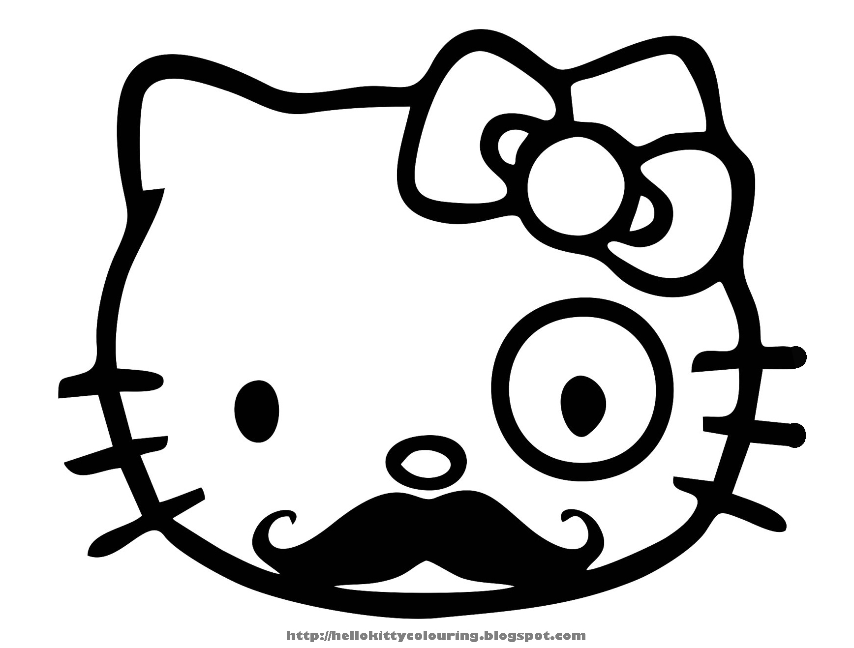 Large hello kitty coloring pages download and print for free for Coloring pages of hello kitty