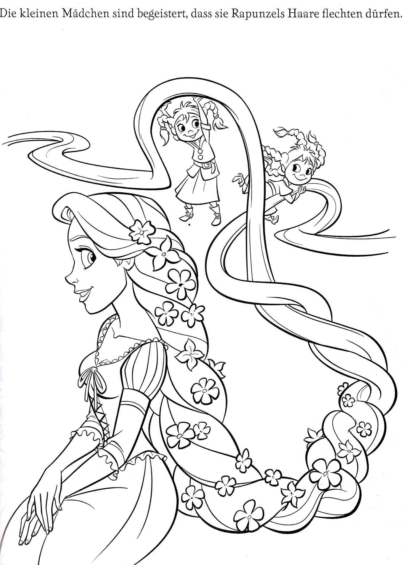 Rapunzel coloring pages to download