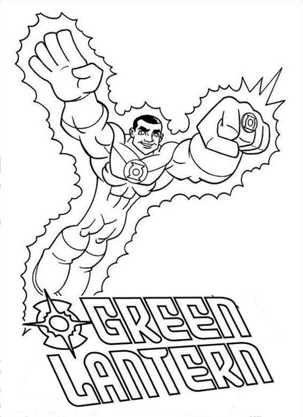 Green lantern coloring pages to