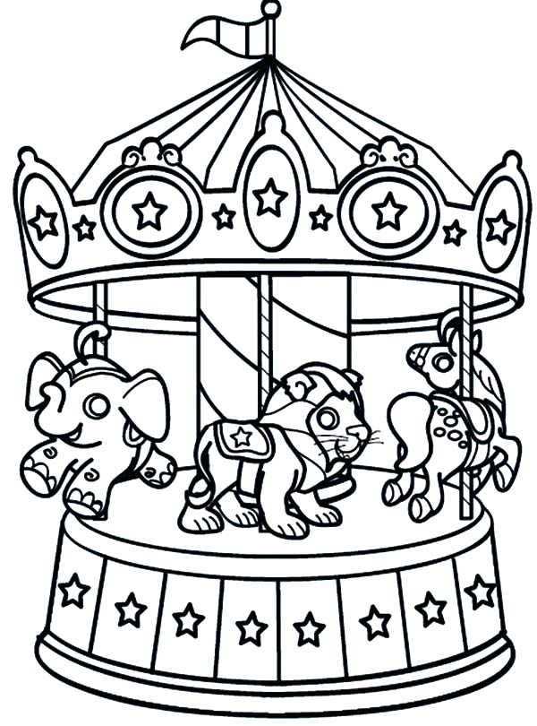 Carnival rides coloring pages download and print for free for Printable circus coloring pages